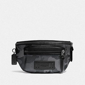 COACH TERRAIN BELT BAG IN SIGNATURE CANVAS WITH CAMO PRINT F89034 (QB/GREY MULTI)