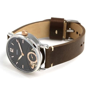 FOSSIL MEN'S WATCH THE COMMUTER TWIST BROWN LEATHER (ME1165)