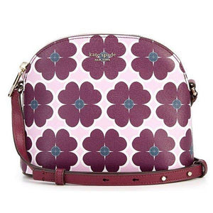 Kate Spade Sylvia Graphic Clover Medium Dome Crossbody Bag PXRUA412 In orchid Multi