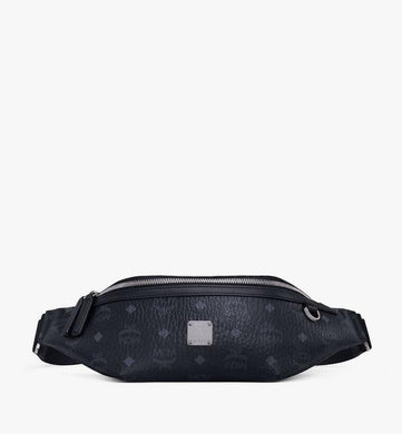 (PREORDER) MCM Fursten Belt Bag in Visetos Medium (Black | Black)