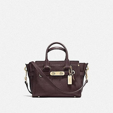Coach Swagger 20 F36235 (Oxblood/Gold)