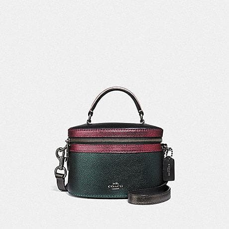 Coach Trail Bag in Colourblock F38769 (Metallic Ivy Multi/Gunmetal)
