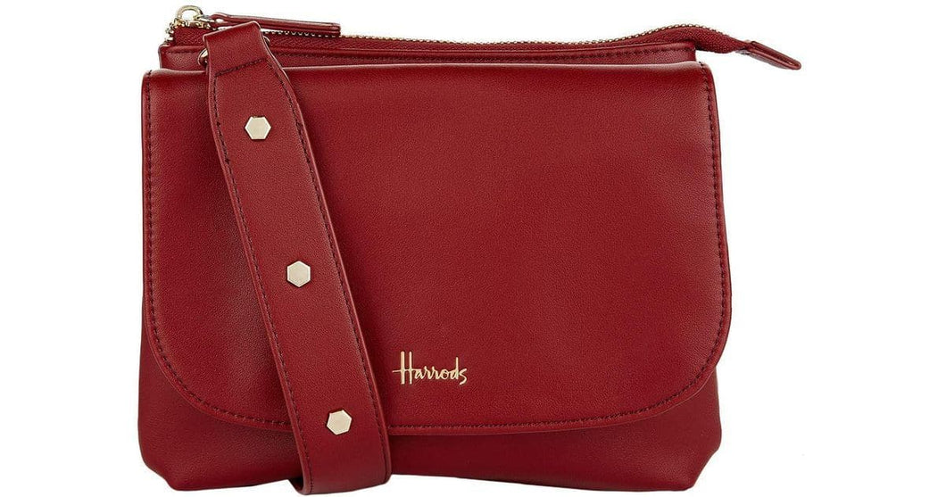 Harrods Hoxton layered Crossbody Bag in Burgundy