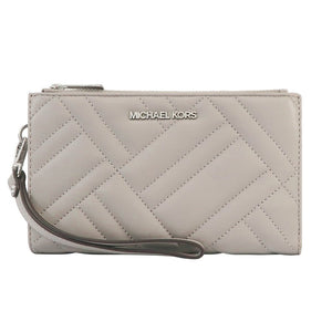 Michael Kors Peyton Double Zip Quilted Wristlet 35S0SP6W3L In Carnation