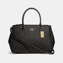 Load image into Gallery viewer, Coach Large Surrey Carryall in Signature Canvas F73312 (Brown/Black/Imitation Gold)