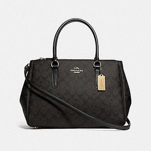 Coach Large Surrey Carryall in Signature Canvas F73312 (Brown/Black/Imitation Gold)