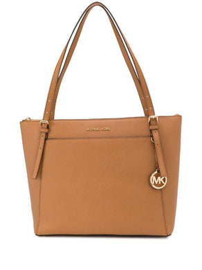 Michael Kors Ciara Large Top Zip Tote Bag 35T8GC6T9L In Luggage