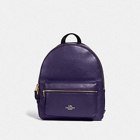 Coach Medium Charlie Backpack F30550 (Dark Purple/Imitation Gold)