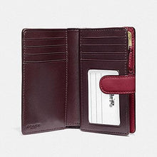 Load image into Gallery viewer, Coach Medium Corner Zip in Signature Leather F25937 (Cherry/Light Gold)