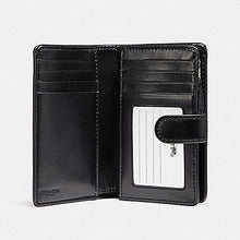 Load image into Gallery viewer, COACH WALLET MEDIUM CORNER ZIP F23553 SIGNATURE PVC (BLACK SMOKE)
