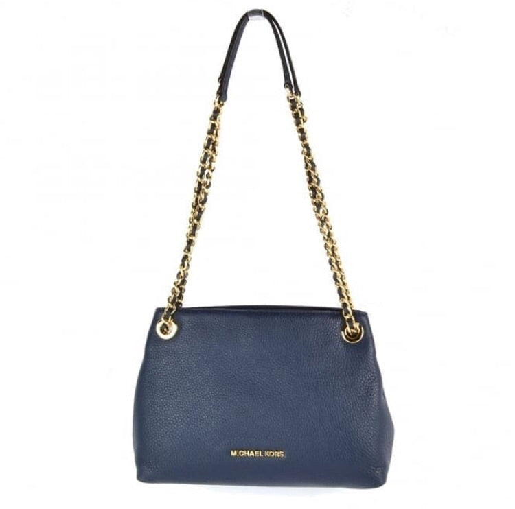 Michael Kors Jet Set Item Medium Chain Messenger Navy