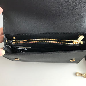 MICHAEL KORS JET SET TRAVEL 3IN1 WRS CLUTCH CROSSBODY BLACK