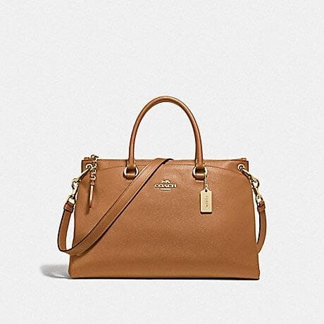 Coach Mia Satchel F76640 (Saddle)