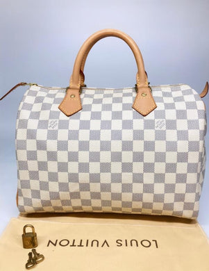 Preloved Louis Vuitton Damier Azur Speedy 30