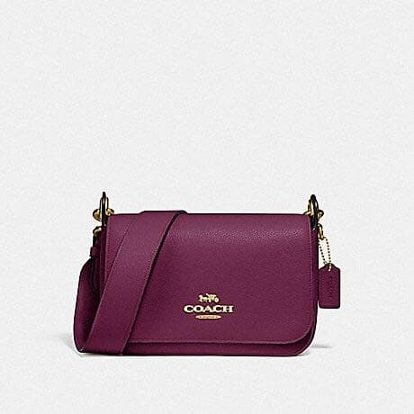 Coach Small Jes Messenger F76698 (Gold/Dark Berry)