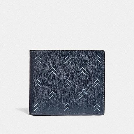 COACH 3-IN-1 WALLET WITH DOT ARROW PRINT F73097 (NAVY/MULTI)
