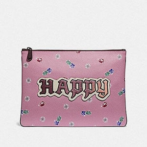 DISNEY X COACH LARGE WRISTLET 30 WITH HAPPY F72913 (MULTI)