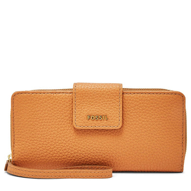 Fossil Madison Zip Clutch Tan