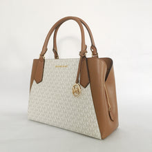 Load image into Gallery viewer, Michel Kors Kimberly Large EW Satchel 35F9GKFS7V (Vanilla)