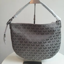 Load image into Gallery viewer, MICHAEL KORS BEDFORD MEDIUM CRESCENT SHOULDER (HEATHER GREY)