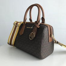 Load image into Gallery viewer, MICHAEL KORS HAYES SMALL DUFFLE (brown/luggage)