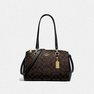 Coach Etta Carryall in Signature Canvas F77881 In Brown Black