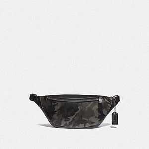 Coach Warren Belt Bag with Camo Print F76845 (Green/Black Antique Nickel)