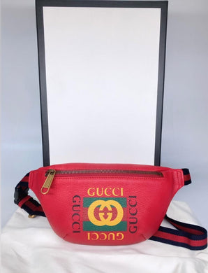 Preloved GUCCI Bumbang Red(small)