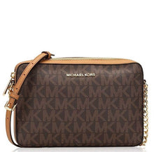 Load image into Gallery viewer, Michael Kors Jet Set Item Monogram Large Crossbody Bag