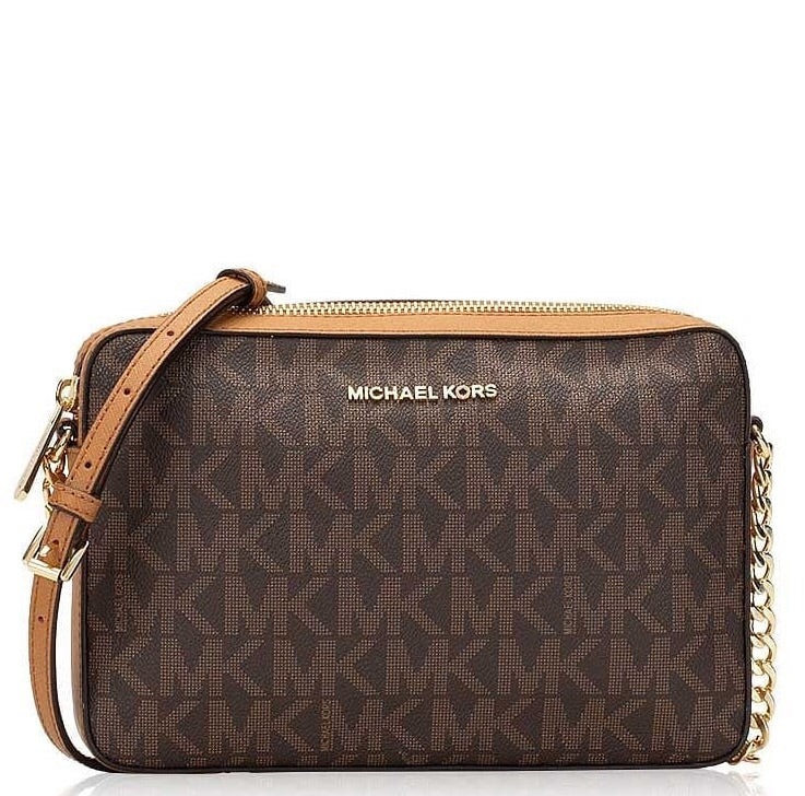 Michael Kors Jet Set Item Monogram Large Crossbody Bag