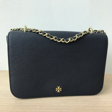 Tory Burch Emerson Adjustable Shoulder Bag (Navy)