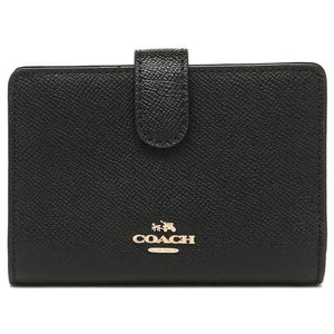 Coach Medium Corner Zip Wallet F11484 In Black