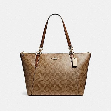 Coach Ava Tote in Signature F58318 (Imitation Gold/Khaki)