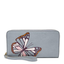 Load image into Gallery viewer, FOSSIL JORI RFID ZIP CLUTCH BUTTERFLY