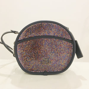 Coach Glitter Canteen Crossbody F48731 (Nickel Black/Rainbow Multi)