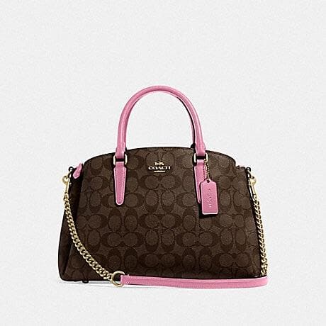 COACH SAGE CARRYALL IN SIGNATURE CANVAS F29683 (IM/BROWN PINK ROSE)