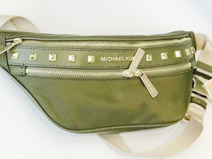 MICHAEL KORS KENLEY MEDIUM WAIST PACK (GREEN/DUFFLE)
