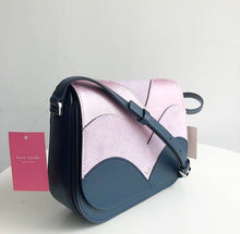 Load image into Gallery viewer, KATE SPADE NADINE PATCHWORK MEDIUM FLAP CROSSBODY (PB/LVNM/MP)