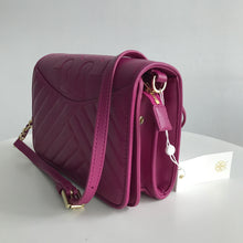 Load image into Gallery viewer, Tory Burch Alexa Party Fuschia  Leather Cross Body Bag