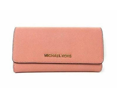 MICHAEL KORS JET SET TRAVEL LARGE TRIFOLD (PALE PINK)