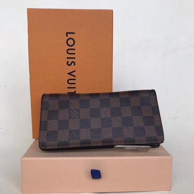 Preloved Louis Vuitton Damier Ebene Braza Long Purse