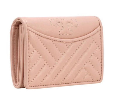 Tory Burch Alexa Foldable Mini Wallet (Shell Pink)
