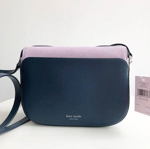 KATE SPADE NADINE PATCHWORK MEDIUM FLAP CROSSBODY (PB/LVNM/MP)
