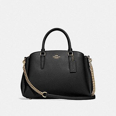 COACH HANDBAG SAGE CARRYALL F28976 (BLACK/GOLD)