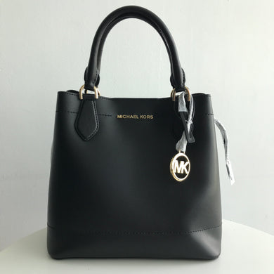Michael Kors Eden Large Drawstring Grab Bag Leather (black/black) 35T9GXET9T