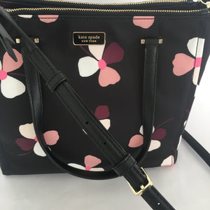 Kate Spade Dawn Medium Satchel Dusk Buds (Black Multi)