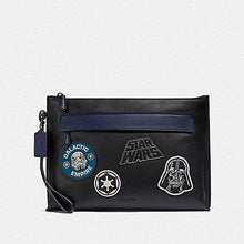 Load image into Gallery viewer, COACH STAR WARS X COACH CARRYALL POUCH WITH PATCHES F88113 (QB/BLACK)