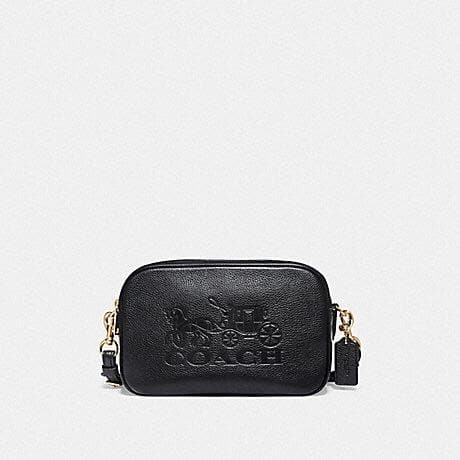 COACH JES CROSSBODY F75818 (BLACK/GOLD)