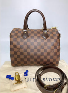 Preloved Louis Vuitton Damier Ebene Speedy 25B