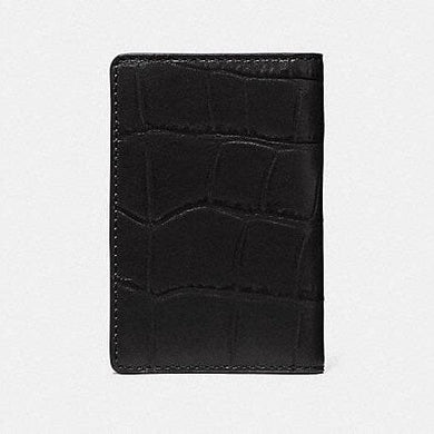COACH MEN CARD WALLET F75913 (BLACK)